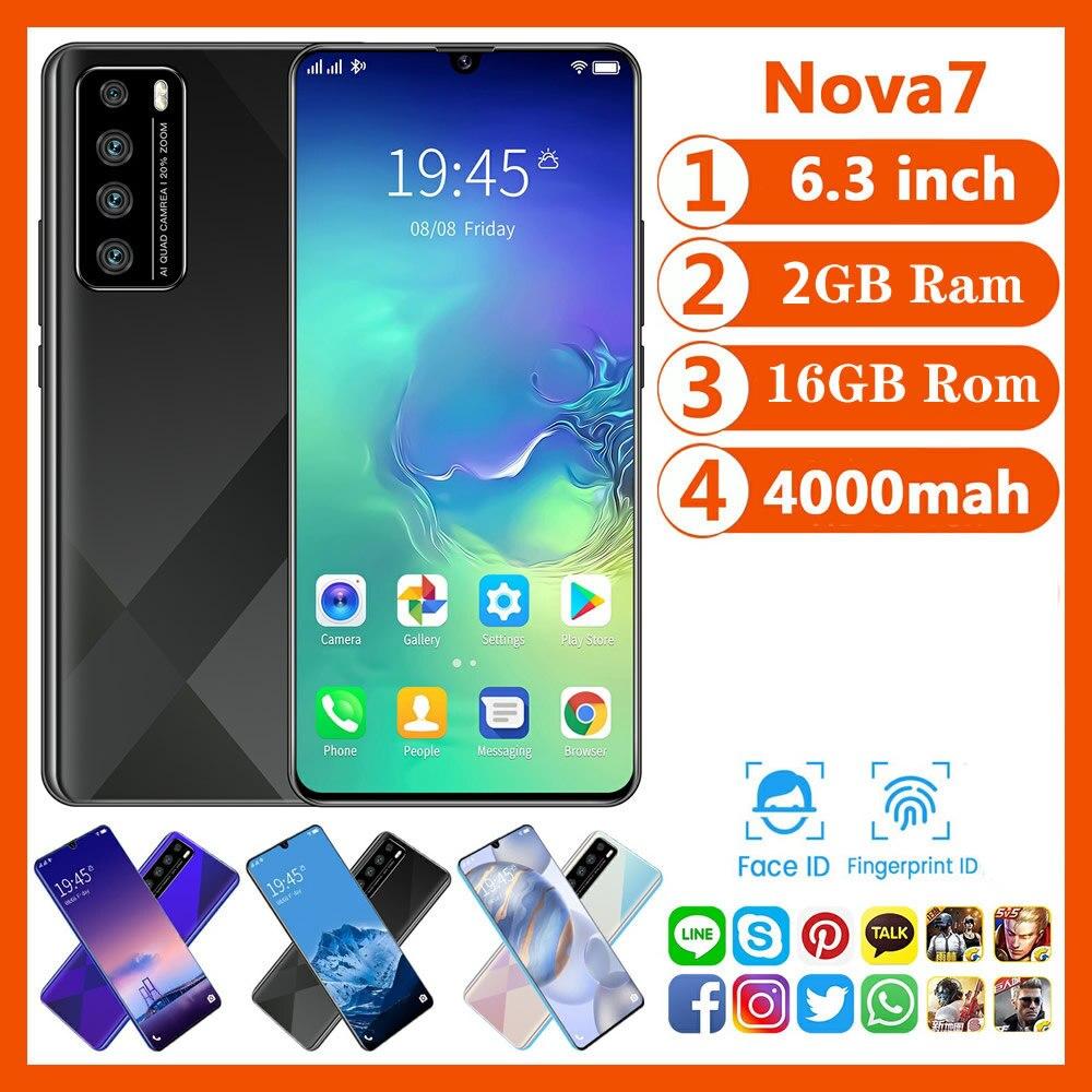 Самый дешевый смартфон CECTDIGI Nova 7 Android 9,0 2GB Оперативная память 16 Гб Встроенная память 6,3 дюймовый смартфон с большим экраном разблокированный ...