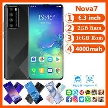 Mais barato telefone inteligente cectdigi nova 7 android 9.0 2gb ram 16gb rom 6.3 Polegada tela grande smartphone desbloqueado duplo sim telefone móvel