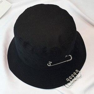 Шляпа для женщин и мужчин в рыбацком стиле, корейский дизайн, Кепка-обруч, кепка для умывальника, Харадзюку, солнцезащитная, черная, Панама, б...