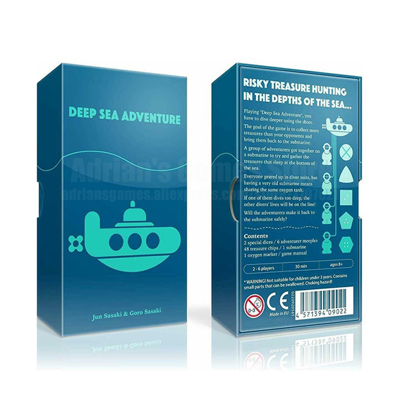 Deep Sea Adventure Board Game 2-6 Players Party Games Japanese Germany French English Rules Risky Treasure Hunting Table Game