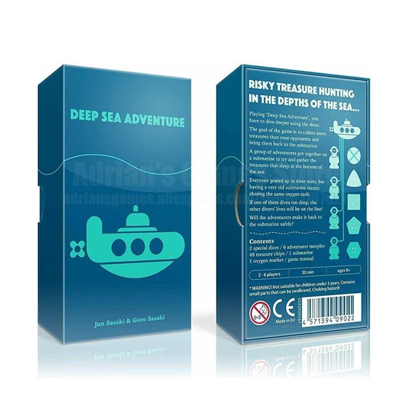 Jeu de société aventure en haute mer 2-6 joueurs jeux de fête japonais allemagne français anglais règles jeu de Table de chasse au trésor risqué