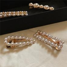 WBW Fashion Retro Baroque Diamond Pearl Temperament Hair Clips Side Clip Hairwear