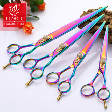 Fenice Japan 440c Professional Pet brand dog Grooming scissors 6.25/6.75/7.5/8.5 inch sharp cutting straight shears