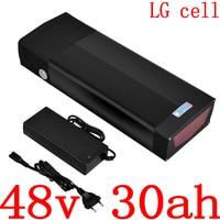 48 v bateria elétrica da bicicleta 48 v 30ah bateria de íon de lítio usar lg célula 48 v ebike com porta usb para 48 v 1000 w 1500 w 2000 w ebike motor