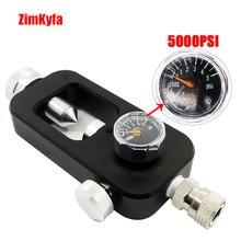 Paintball pcp york recarga adaptador hpa scuba estação de preenchimento conector avaliado para 300bar/4500psi
