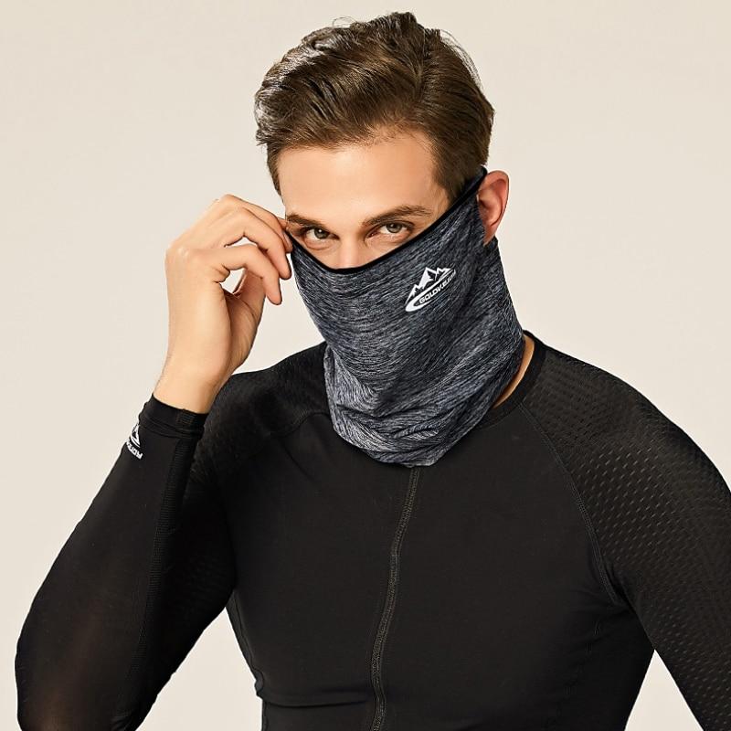 Frühling Sommer Radfahren Halbe Gesicht Maske Haut Kühles Eis Silk Atmungsaktiv Uv schutz Outdoor Sport Headwear Camping Wandern Stirnband - 4