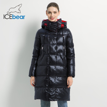 2019 New Winter Women Jacket Fashion Woman Cotton High Quality Female Parkas Hooded Women #8217 s Coats Brand Clothing GWD19501 cheap ICEbear Casual zipper Full Polyester Sustans Thick (Winter) Broadcloth Slim Solid REGULAR Pockets Zippers