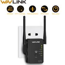 De alta potencia ampliador de WiFi/Router repetidor/Punto de Acceso AP 300Mbps 2,4G inalámbrico wifi gama WiFi amplificador de señal negro Wavlink