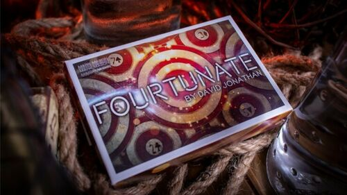 Fourtunate (Gimmicks And Online Instructions) By David Jonathan And Mark Mason Close Up Magic Tricks Illusions Card Magic Fun