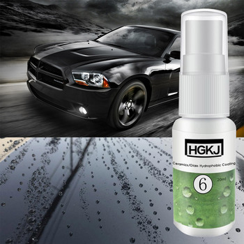 HGKJ-6 Hydrophobic Coating Anti Scratch Auto Paint Sealant Care Polishing Spot Rust Nano Ceramic Coating Car Care Paint Cleaner 30ml hardness 10h super hydrophobic car glass coating car liquid coat paint care durability anti corrosion coating set