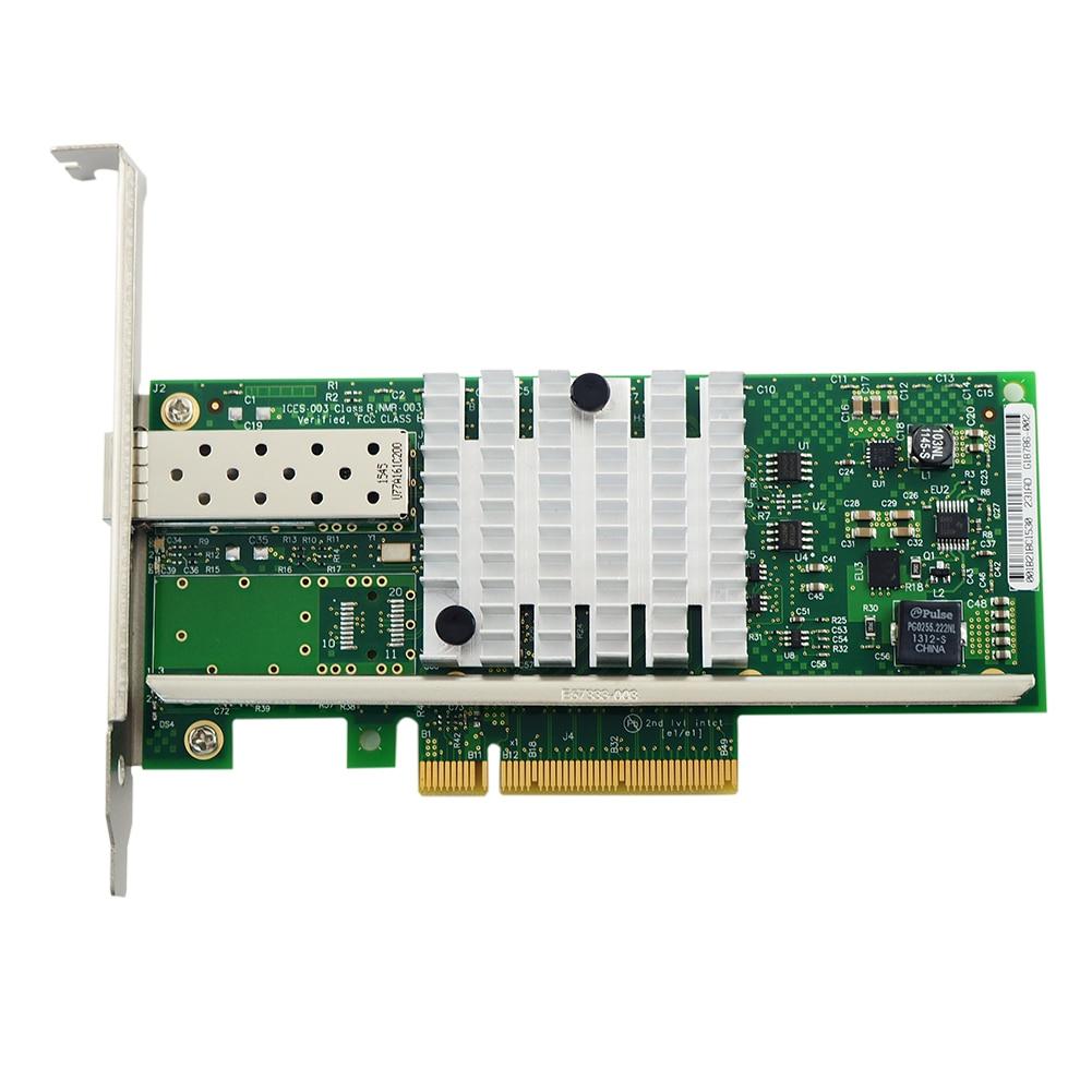 Mini Computer SFP Pcie Servers E10G41BTDA Network Card Adapter Single Port Optical Fiber X520-DA1 Ethernet Accessories Led 10GB