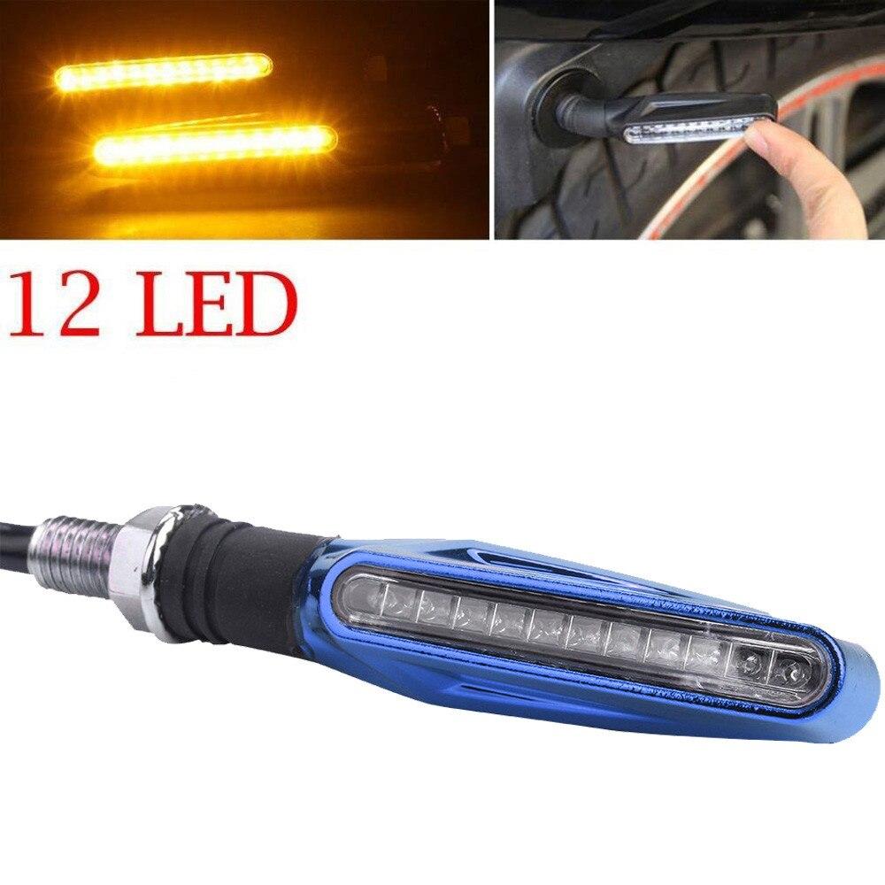 2019 NEW 1PCS Motorcycle 12 LED Turn Signal Indicator Blinkers Light Amber Blinker Light Flashers Lighting Motorcycle Accessores