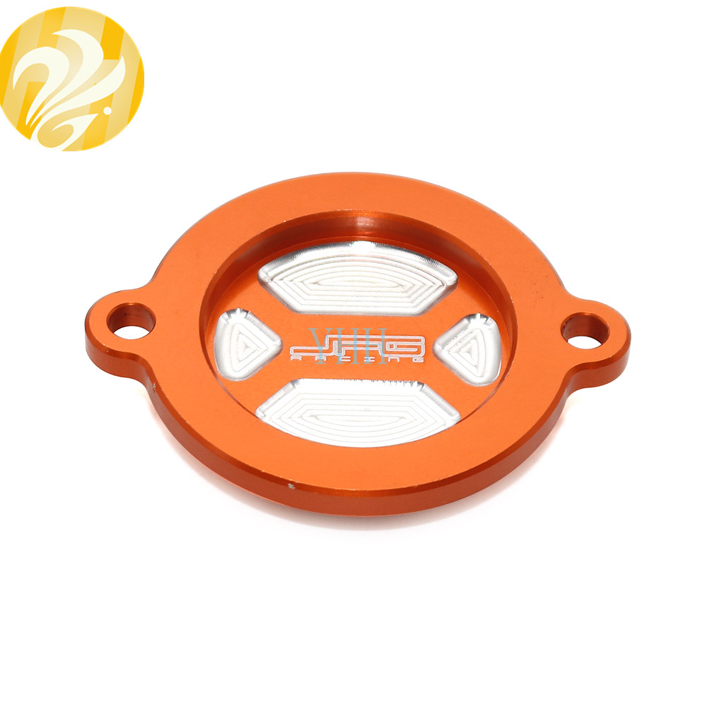 CNC Oil Filter Covers Caps For KTM 450 EXC SXF XCF 500 XCW 125 390 Duke RC 1190 2008-2015 2009 2010 2011 2012 2013 2014 image