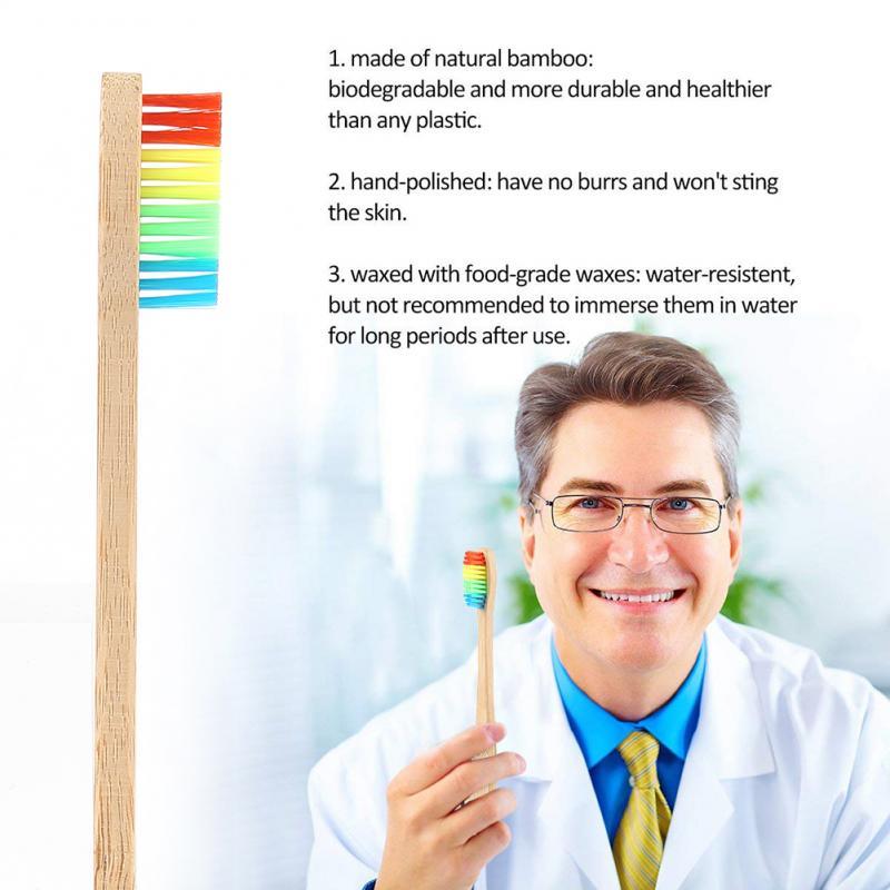 3/5/10 çevre dostu diş fırçası bambu kolu bambu kömür kıl yumuşak Ultra ince kıllar diş fırçaları yetişkin diş fırçası ağız