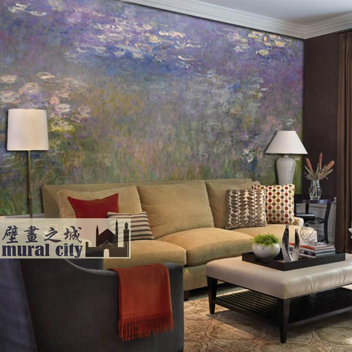 wallpaper print claude monet wall paper wall art decor large pond wallpaper mural floral wallpaper removable water lily pool wallpaper