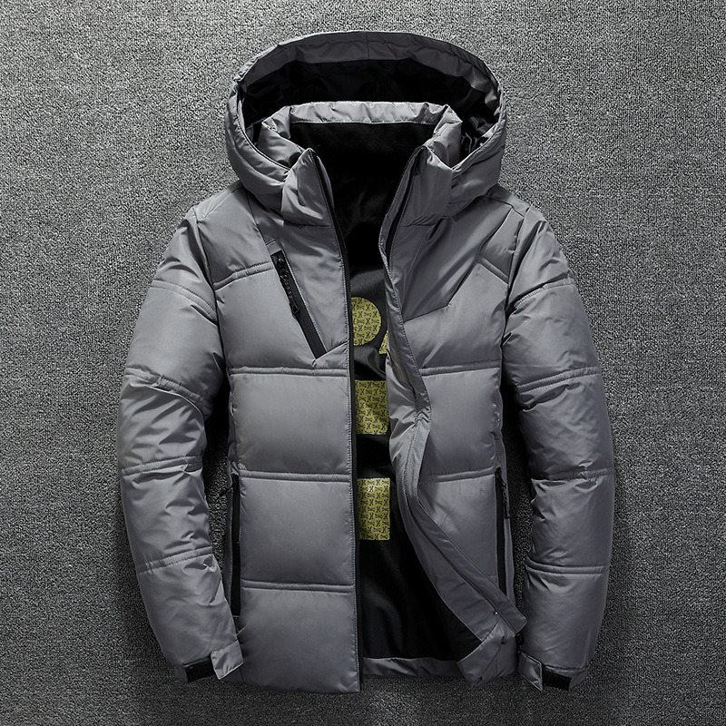 Winter Warm Men Jacket Coat Casual Autumn Stand Collar Puffer Thick Hat White Duck Parka Male Men's Winter Down Jacket With Hood 5