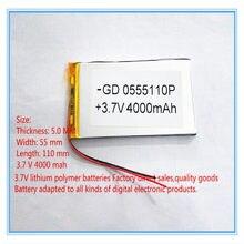 Beste batterie marke Freies verschiffen 3,7 V lithium-polymer-batterie 4000 mah große-kapazität PDA tablet PC MID 5055110