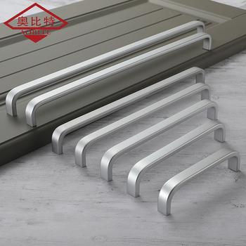 AOBT srebrny amerykański uchwyt 96 MM-320 MM solidna aluminiowa krawędź ciągnie uchwyty do szafek na sprzęt meblowy szafki kuchenne długopisy 275 tanie i dobre opinie Maszyny do obróbki drewna Aluminium Meble uchwyt i pokrętła 192mm Nowoczesne