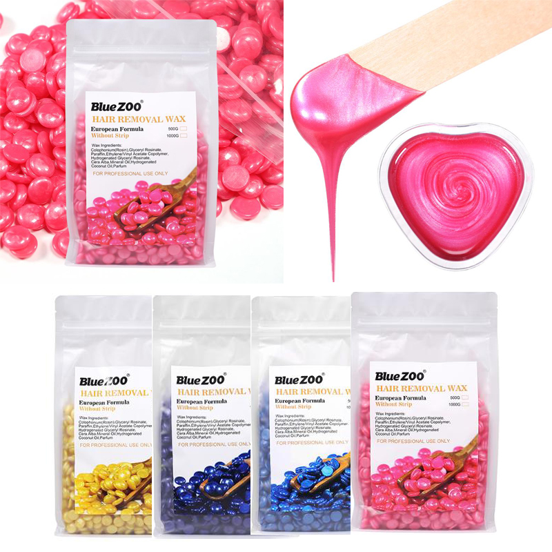 500g Hard Wax Beans Pellet Waxing Bikini Flawlessness Hair Removal Bean More Colors For Women Men Depilatory Hot Film No Strip