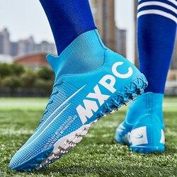 Dorosłych dzieci Futzalki dla mężczyzn chłopców Centipede buty piłkarskie knagi Boot Futsal profesjonalne buty piłkarskie rozmiar butów 36 45 w Buty piłkarskie od Sport i rozrywka na