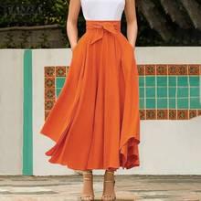 ZANZEA Summer Women Elegant Skirts Bohemian Beach Skirt Jupe