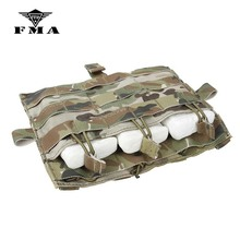 Pouch Multicam Front-Panel Triple-Magazine Airsoft Molle Hunting M4 FMA for AVS JPC2.0