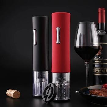 Automatyczny otwieracz do butelek do czerwonego wina aluminiowym nożem elektryczny otwieracz do czerwonego wina otwieracz do słoików akcesoria kuchenne gadżety otwieracz do butelek otwieracz tanie i dobre opinie Wannafree CN (pochodzenie) F290022 Otwieracze Red Wine Na stanie Automatic Bottle Opener Black Red Home Party Restaurant Outdoor