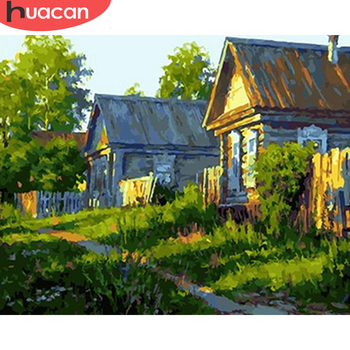 HUACAN DIY Pictures By Number House Kits Painting By Numbers Landscape Drawing On Canvas Hand Painted Paintings Art Home Decor