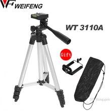 Trípode con cabezal de 3 vías para Nikon D7100 D90 D3100 DSLR Sony NEX 5N A7S Canon 650D 70D 600D WT 3110A