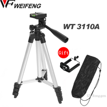 Tripod With 3 Way HeadTripod for Nikon D7100 D90 D3100 DSLR Sony NEX 5N A7S Canon 650D 70D 600D WT 3110A
