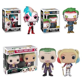 FUNKO POP Suicide Squad Punk Joker Harleen Collection Action Figure Toys Vinyl Car Decoration Model for Kids Birthday Gifts 1