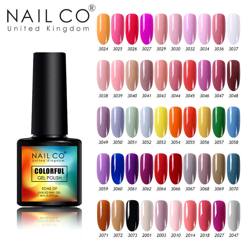 NAILCO ใหม่ 8ml 130 สีเล็บเจล UV เจลเล็บเล็บ Salon Home เคลือบเงาเจล gellak Lacquer HYBRID Soak OFF