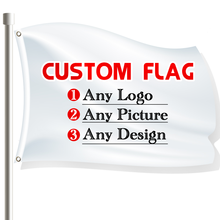 3x5 Ft Custom Flag  for Outdoors Free Design Advertising Banner Decoration with Shaft Cover Brass Grommets and Double Stitched