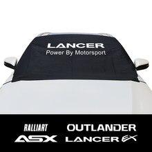 Für Mitsubishi ASX Lancer EX Outlander Ralliart Auto Front Fenster Windschutzscheibe Schnee Eis Block Sonnenschutz Deckt Auto Zubehör
