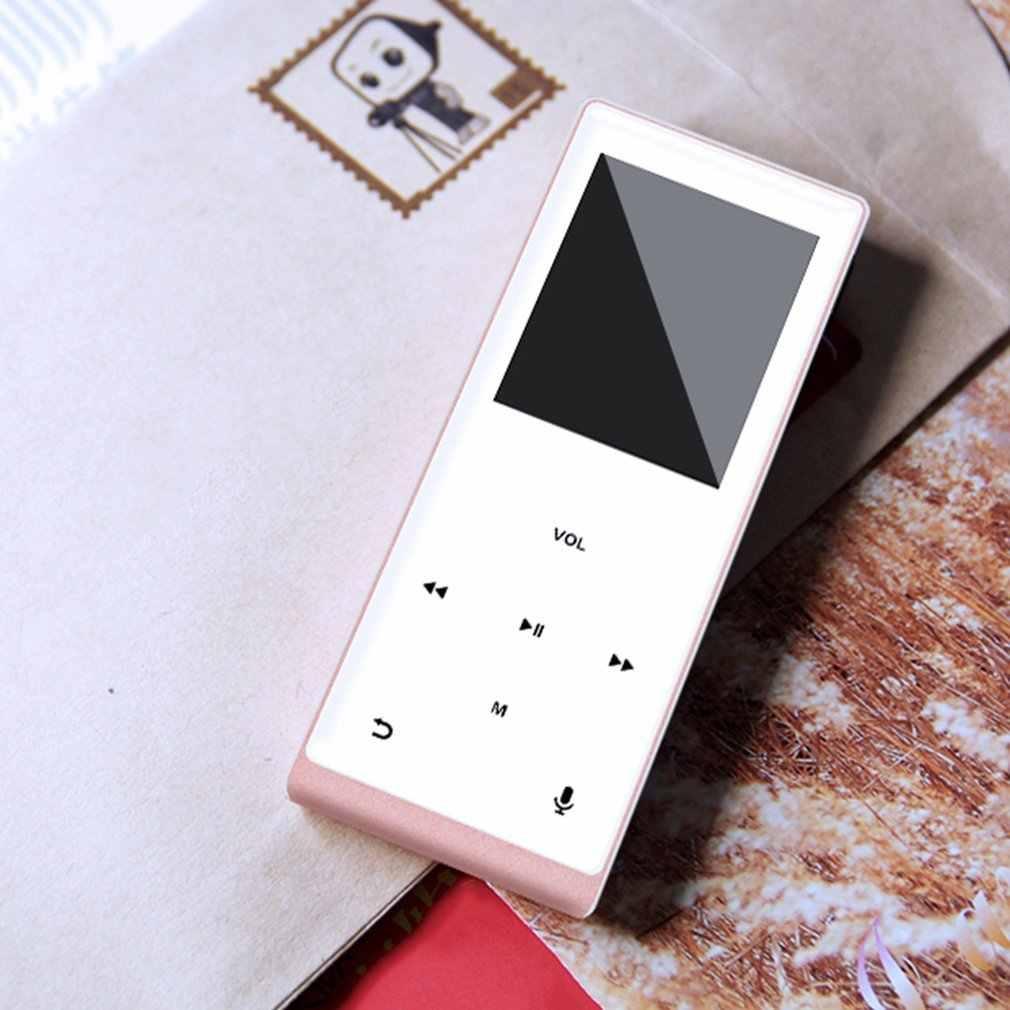 المعادن بلوتوث MP3 ايفي الموسيقى لاعب دعم TF بطاقة صوت تسجيل خطوة مضادة البسيطة كمان اللمس شاشة