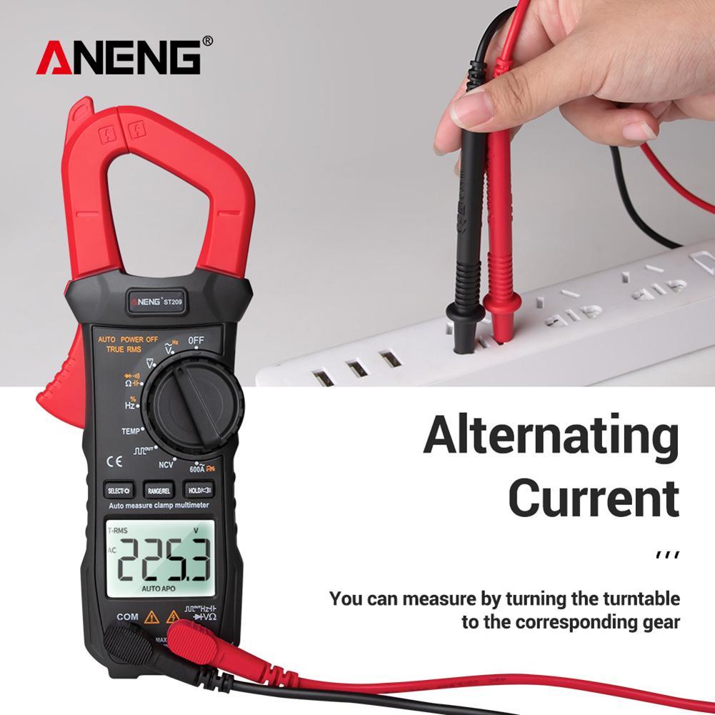 ANENG ST209 multimetro digitale pinza amperometrica 6000 conta vero RMS Amp DC/AC corrente pinza Tester amperometro LCD retroilluminazione voltmetro