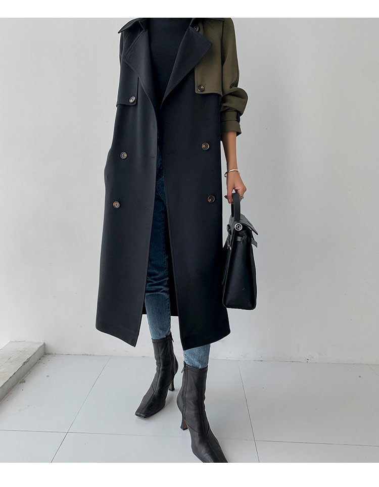 European American Top Quality Autumn spring Trench Coat women Plus Size Long Coat Simple Chic Classic Female Windbreaker FY112