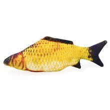 Creative 3D Carp Fish Shape Cat Toy Cute Simulation Plush Fish Playing Toy For Pet Gift Catnip Fish Stuffed Pillow Doll big creative simulation catching mouse cat lifelike handicraft dark colour cat doll gift about 42x14x13cm