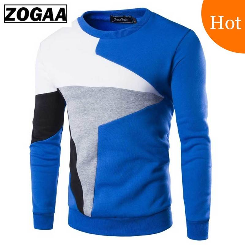 Zogaa 2018 Sweaters Men New Fashion Casual O-Neck Slim Cotton Knit Quality Mens Sweaters Pullovers Men Brand Clothing Size