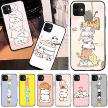 Cute cartoon animals stacked Newly Arrived Black Phone Case For iPhone 5C 6 6S 7 8 plus X XS XR XS MAX 11 11 pro 11 Pro Max offeier cute hippo newly arrived black cell phone case for iphone 5c 6 6s 7 8 plus x xs xr xs max 11 11 pro 11 pro max