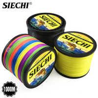 SIECHI Braid Fishing line 300M 500M 1000M 4 Strands 8 StrandsMultifilament Fishing Wire Carp Fishing 20-88lb
