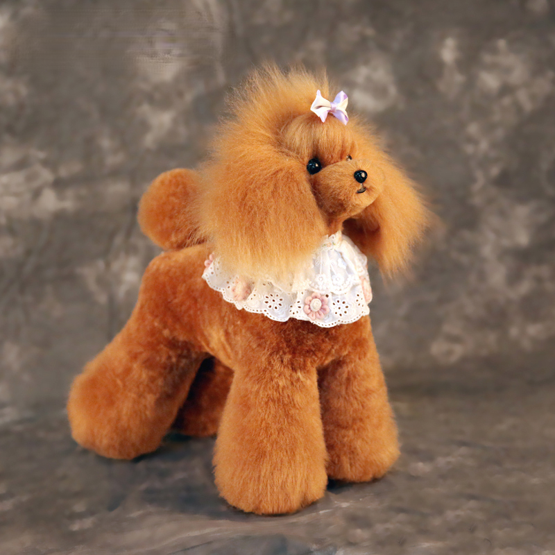 Free Shipping Model Dog Mannequin Wig For Pet Grooming School Use  Teddy Bear Brown Body Wig