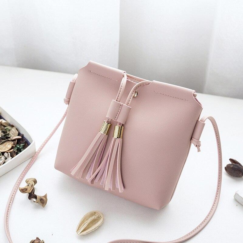 Women's Handbags Bag PU Leather Female Fashion Tassel Bolsa Feminina Soft Shoulder Messenger Bag Mini Bag For Phone Purse