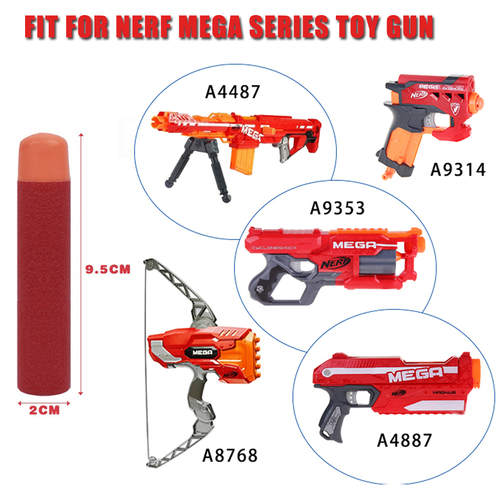 30Pcs 9.5cm Red Sniper Rifle Darts Suit for Nerf N-Strike Mega Series Toy Gun Foam Refill Darts Big Hole Head Bullets (2)