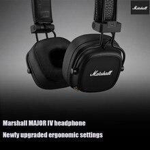 Marshall major 2 fone de ouvido sem fio bluetooth subwoofer fone de ouvido dobrável 4th geração preto pk jbl bluetooth