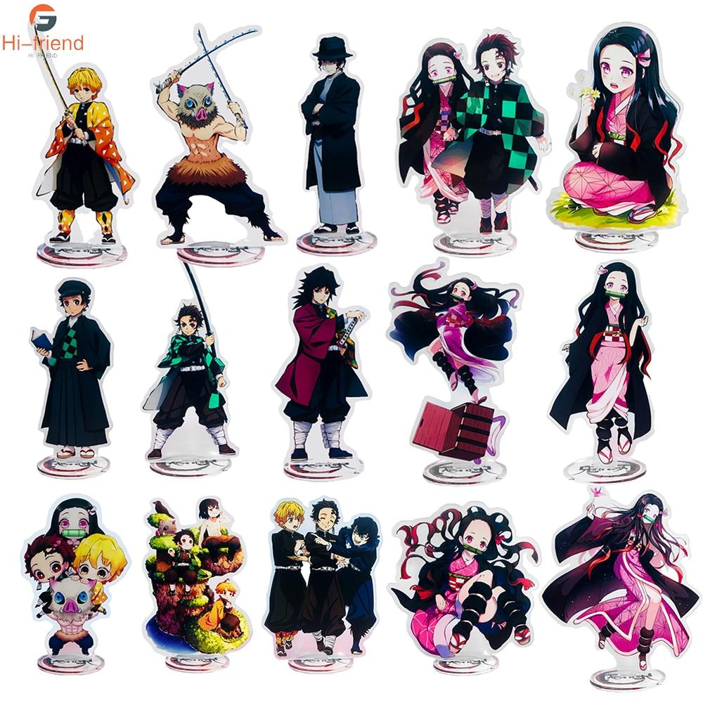 Demon Slayer Kimetsu No Yaiba Keychain Acrylic Ornaments Kamado Tanjirou Japanese Cosplay Props Ornaments