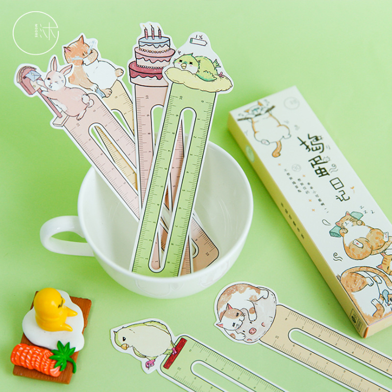 30Pcs/box Cute Cartoon Animal Cat Paper Bookmark for books stationery school supplies