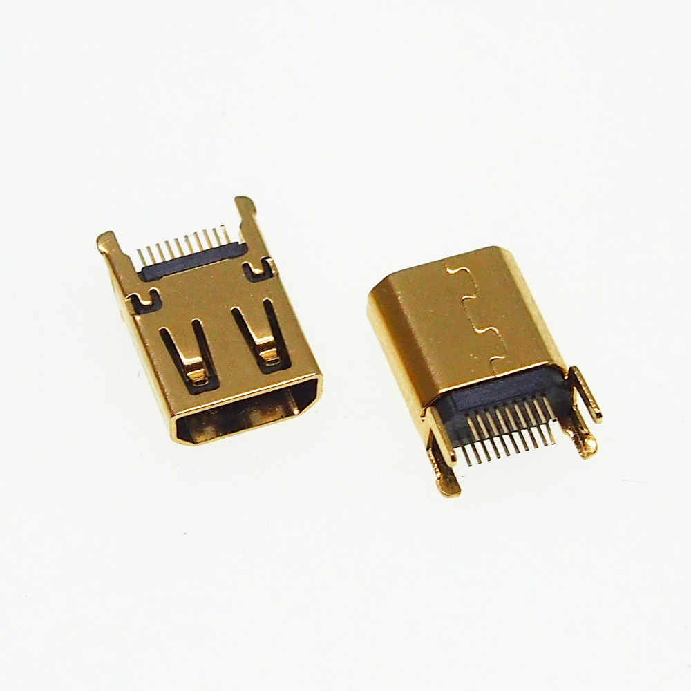 10pcs Micro Hdmi Female Socket Without PCB Board