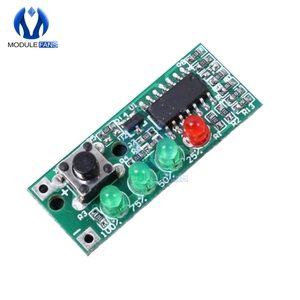 Battery Capacity Indicator 4 LEDs Display Module for 3S 9-12.6V Micro Switch Microswitch Board Electricity Quantity