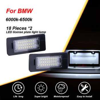 CARLitek for BMW E61 E60 E70 X5 E71 E88 E90 E92 E93 M3 E39 E39 M5 E82 LED License Plate Light White 24 Leds Number Plate Lamp image